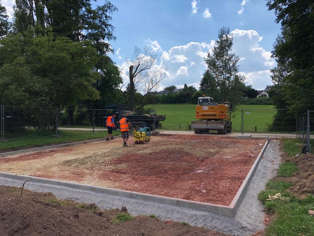 Calisthenics Park Vorbereitungen in Trier